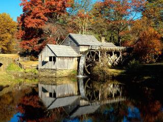 обои Mabry Mill,   Blue Ridge Parkway,   Virginia фото