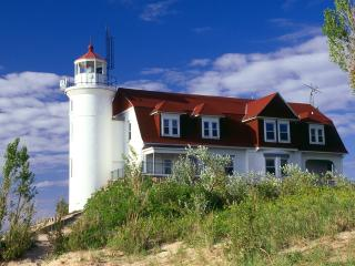 обои Point Betsie Lighthouse,   Frankfort,   Michigan фото