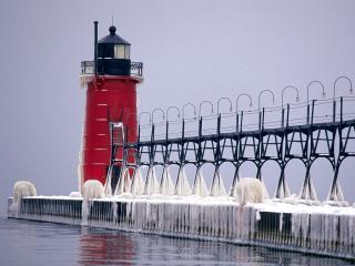 обои South Haven Pier,   Michigan фото