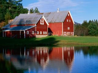 обои Twin Barns at Sunset,   Vermont фото