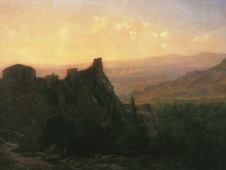 обои Лев ЛАГОРИО (1827-1905) Вид на Тифлис фото
