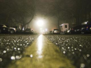 обои Машины под осенним дождем фото