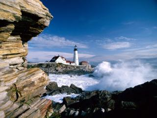 обои Portland Head Lighthouse, Maine фото