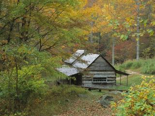 обои Homestead Cabin,   Smoky Mountains National Park,   Tennessee фото