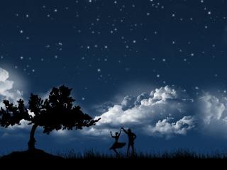 обои Любовь и звёзды фото