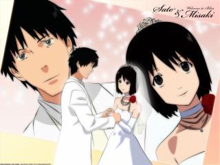 обои для рабочего стола: NHK - Мисаки и Сато венчаются