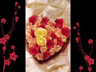 обои Сердце из роз фото