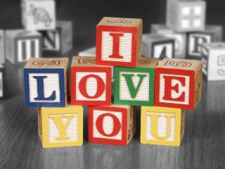 обои Кубики,   я люблю тебя фото