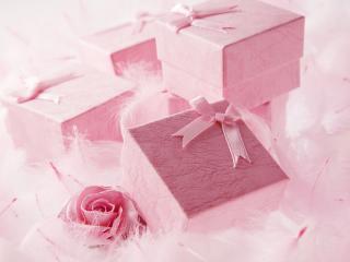 обои Куча розовых подарков фото