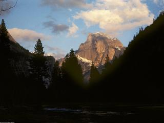 обои Half Dome Alpine Glow, Yosemite National Park, California фото