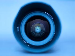 обои Синий объектив фото