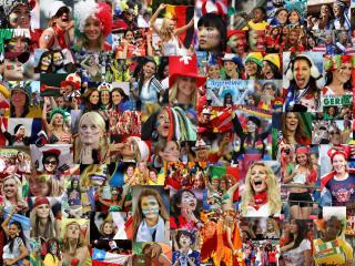 обои Чемпионат мира по футболу FIFA World cup 2010  Футбольные болельщицы фото