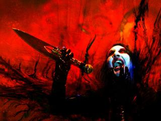 обои Red Manson фото