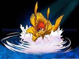 обои D.Gray-Man - Лави в воде фото