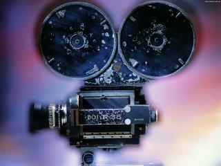 обои Старая кино камера фото