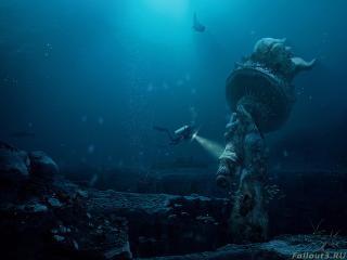обои Факел статуи Свободы под водой фото