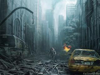 обои Разрушение города фото