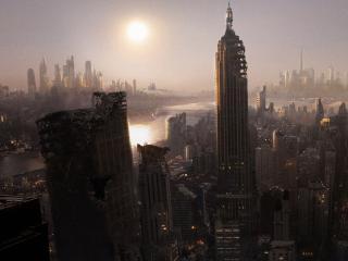 обои Нью-Йорк и сонце фото