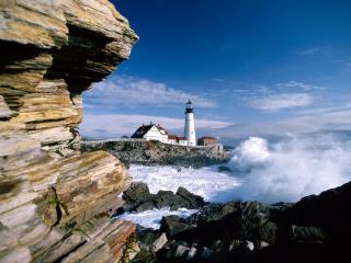 обои Portland Head Lighthouse,   Maine фото