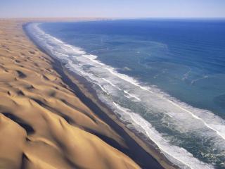 обои Море на конце пустыни фото