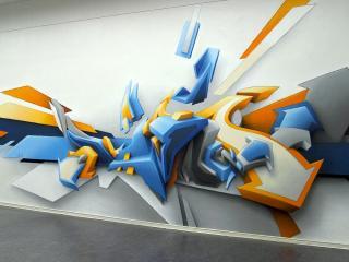 обои Трёхмерное граффити фото