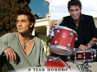 обои Билан Дима с барабанами фото