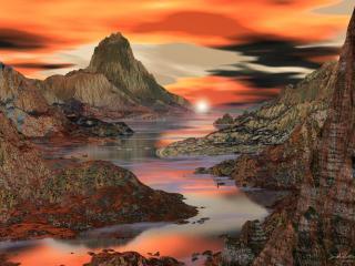 обои Восход в горах фото