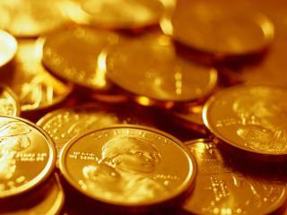 обои Золото  Куча монет фото
