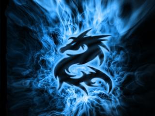 обои Синий дракон фото