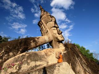 обои Reclining Buddha,   Laos фото