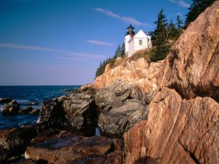 обои Bass Harbor Head Lighthouse,   Acadia National Park,   Maine фото