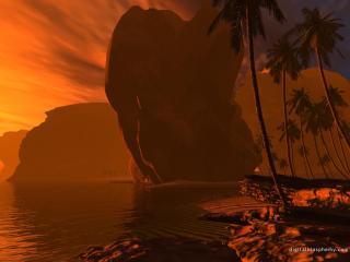 обои Багровый остров фото