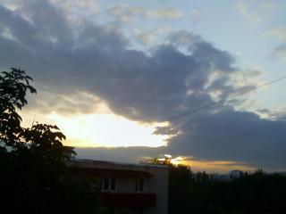 обои Закат солнца в Тирасполе фото