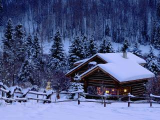 обои Christmas Chalet,   Colorado фото