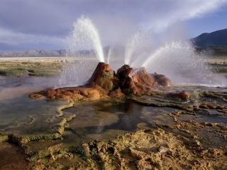 обои для рабочего стола: Фонтан гейзера,   пустыня Black Rock,  Невада