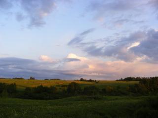 обои Закатные краски,   вечер,   деревня,   природа фото
