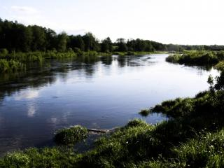 обои для рабочего стола: Омут,   река Корожечна
