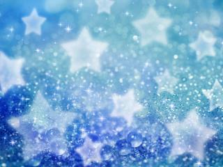 обои для рабочего стола: Белые звездочки на синем фоне