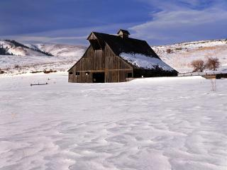 обои Country Ranch in Winter,   Near Baker,   Union County,   Oregon фото