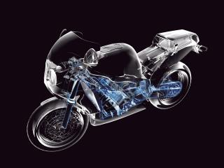 обои 3D макет мотоцикла фото
