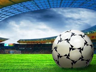 обои Чемпионат мира по футболу - мяч на поле фото