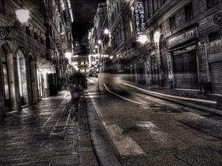 обои Улица,   ночь,   фонари фото
