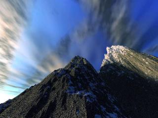 обои Вершины гор фото