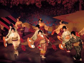 обои Японские танцовщицы фото