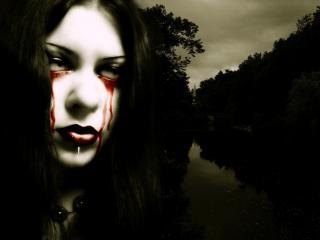 обои Кровавые слезы фото
