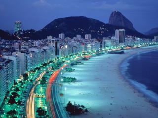 обои Ночной пляж фото