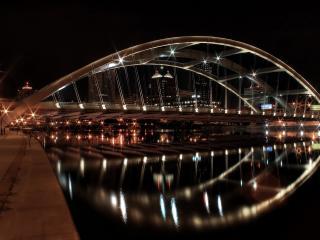 обои Огромный ночной мост фото