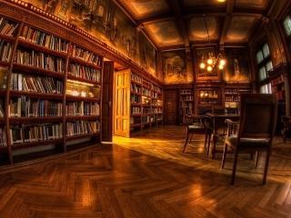обои Комната библиотеки с книгами фото