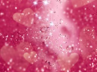 обои Сверкающие кристалы в розовом фоне фото