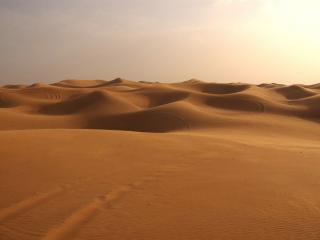 обои Безлюдная пустыня на закате фото